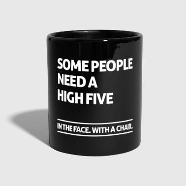 Some people need a high five (dark) - Tasse einfarbig