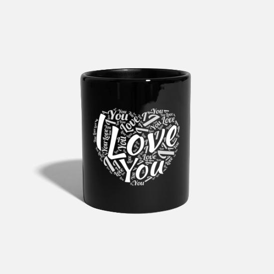 Valentin Tassen & Becher - I Love You - Tasse Schwarz