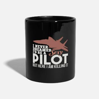Navy Funny Pilot TShirts Sexy Pilot US Navy Aviation - Tasse