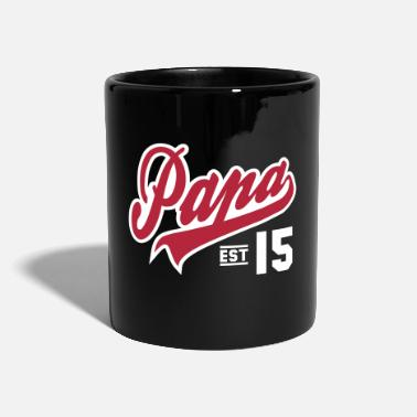 Papa ESTABLISHED 2015 2 color Daddy Design - Mug uni