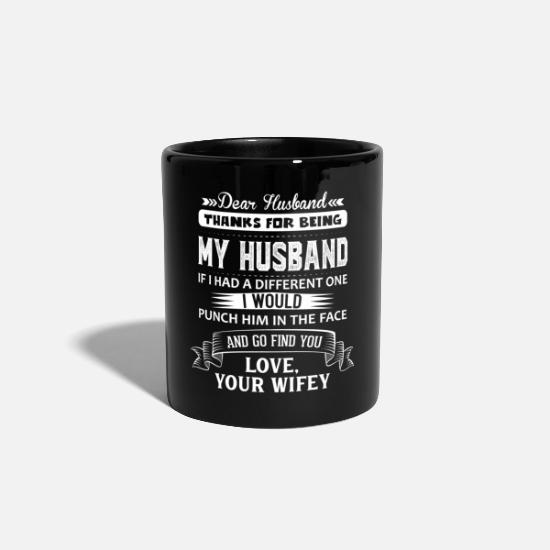 Wedding Mugs & Drinkware - Dear Husband, Love, Your Favorite - Mug black