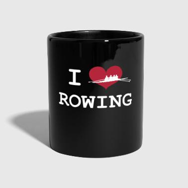 I Love Rowing - Taza de un color
