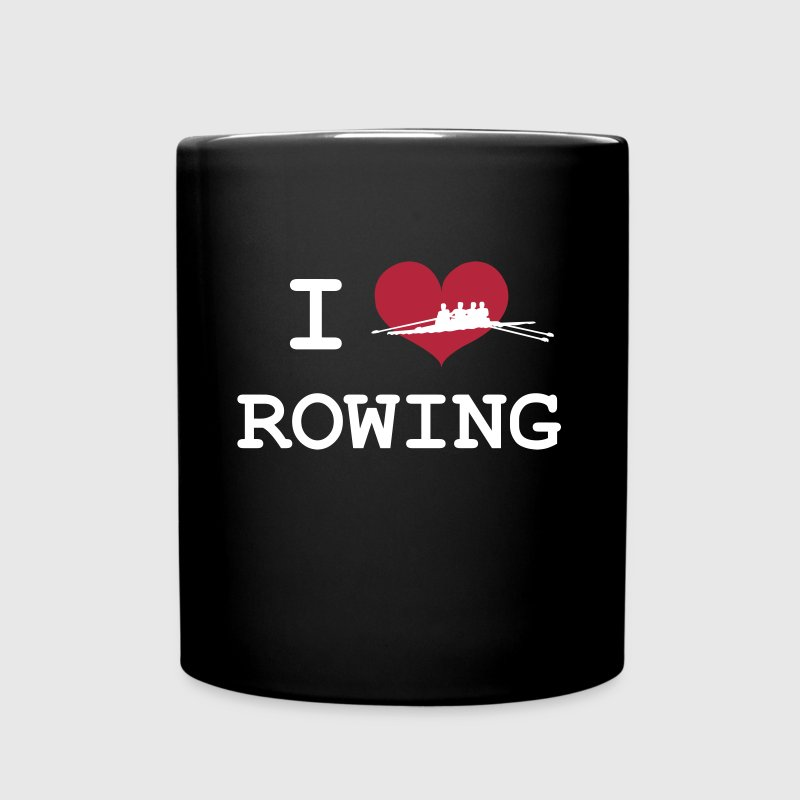 I Love Rowing Mugs & Drinkware - Full Colour Mug