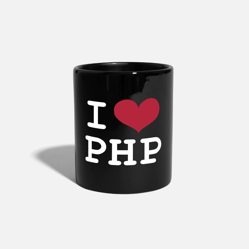 Birthday Mugs & Drinkware - I Love PHP [Developer / Geek] Caps & Hats - Colour Mug black