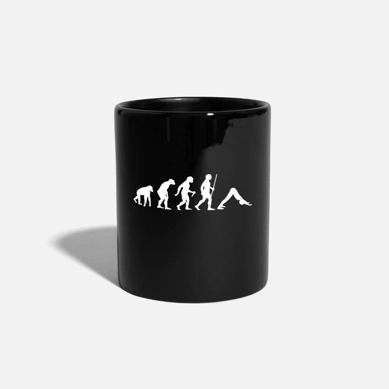 Funny Mugs & Drinkware - Evolution Yoga (Adho Mukha Svanasana) - Mug black