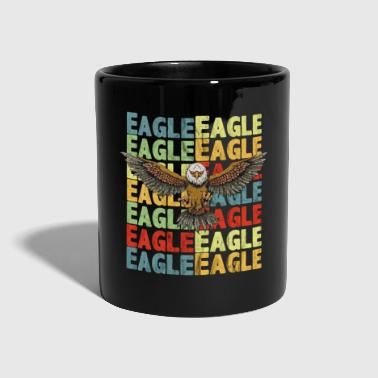 Attacking Eagle with colored lettering Eagle - Full Colour Mug