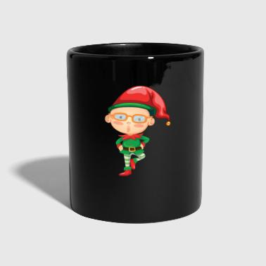 Divertente Elf Christmas Eve Xmas Holiday Celebration - Tazza monocolore