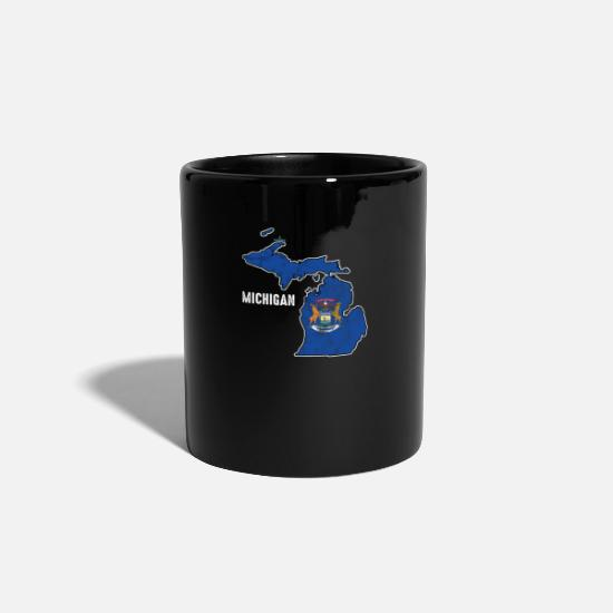 Usa Mugs & Drinkware - Michigan - Mug black