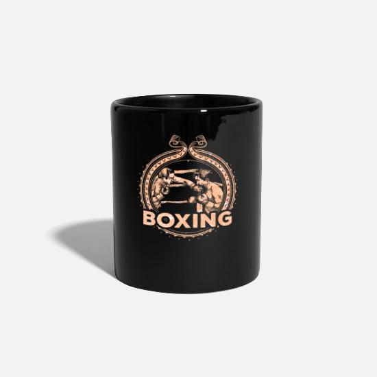 Sports Mugs & Drinkware - Boxing match retro boxer - Mug black