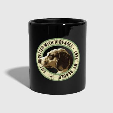 Fransk Bulldog Beagle for Ever, Beagle Dog Lover Gift - Ensfarget kopp