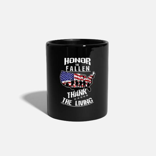 Usa Tassen & Becher - Memorial Day Veteran Marines Soldat Navy - Tasse Schwarz