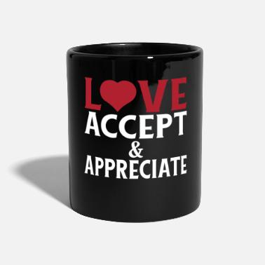 Checkout Respect our Differences Love Accept and - Mug