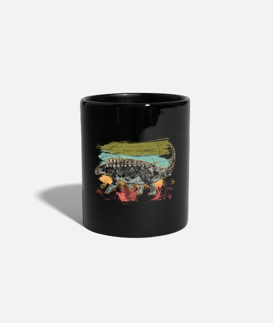 Primeval Times Mugs & Drinkware - Hungarosaurus jungle dinosaur wilderness primal time - Mug black
