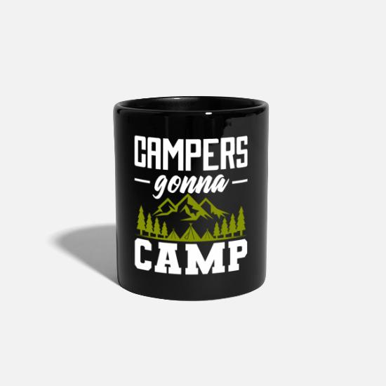 Campfire Mugs & Drinkware - Camper Traveler Adventure Outdoor Survivalist - Mug black