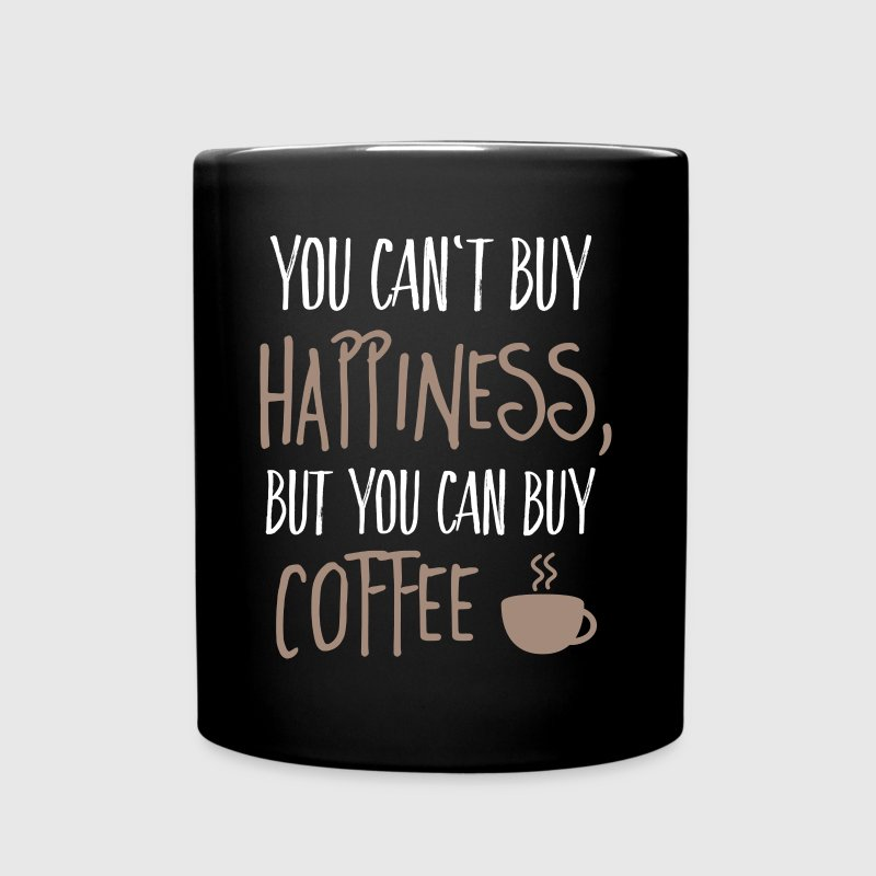 Cant buy happiness, but coffee kan ikke købe lykke, men kaffe - Ensfarvet krus