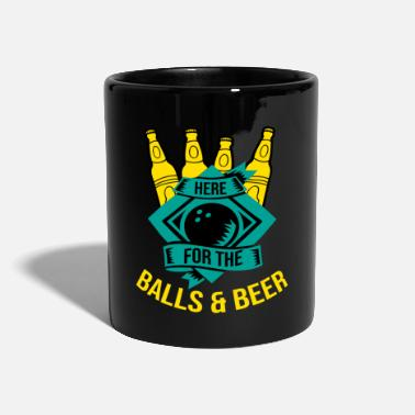 Splitting Here For The Balls And Beer Bowling Sport Gift - Mug
