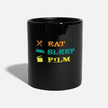 Camera Eat Sleep Film Clapperboard Movie Actor Actress - Mug