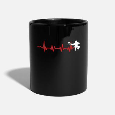Extreme Sports Paintball Heartbeat Paintball Player Marker Gift - Mug