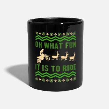 Mechanic Motorcycle Motocross Deer Ugly Christmas Bike Gift - Mug