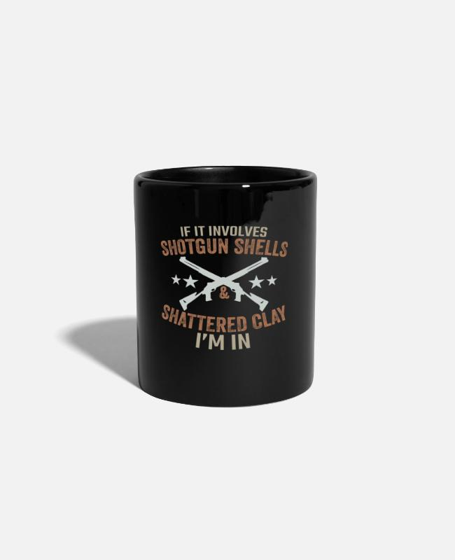 Clay Mugs & Drinkware - Shotgun Shells & Shattered Clay - Mug black