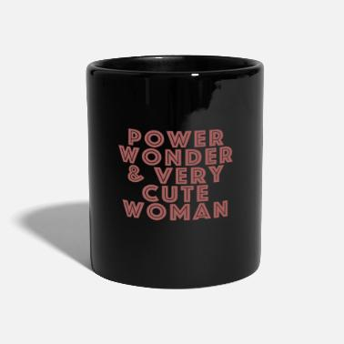 Officialbrands Power, Wonder & Very Cute Woman Women's Gift - Ensfarvet krus