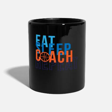 Coach Eat Sleep Coach Basketball - Full Colour Mug