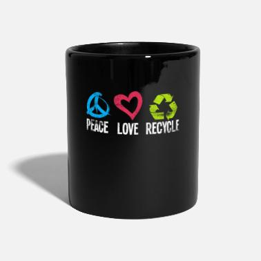 Green Peace Love Recycle Earth Environment Green Nature - Tazza