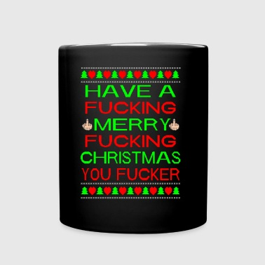 Merry Xmas You Fucker Ugly Xmas Sweater - Taza de un color