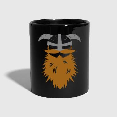 Viking beard Odin Thor helmet warrior nordic idea - Full Colour Mug