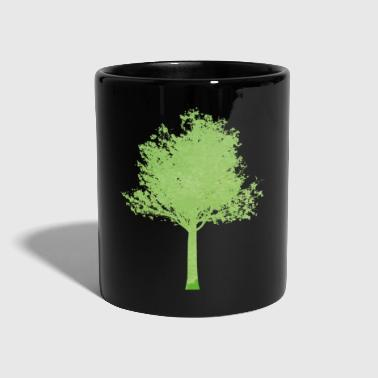Tree tree green gradient ombre - Full Colour Mug