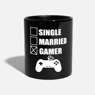 Gamer married gamer geek gamer nerd gaming - Ensfarget kopp