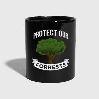 Protects the forests Forest conservation tree cartoon - Full Colour Mug
