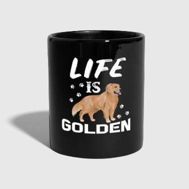 Gold Livet er Golden - Golden Retriever - Ensfarget kopp