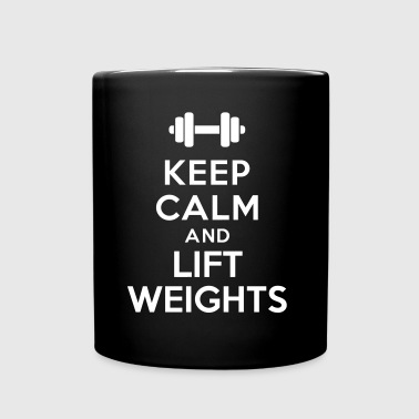 Keep calm lift weights - Mug uni