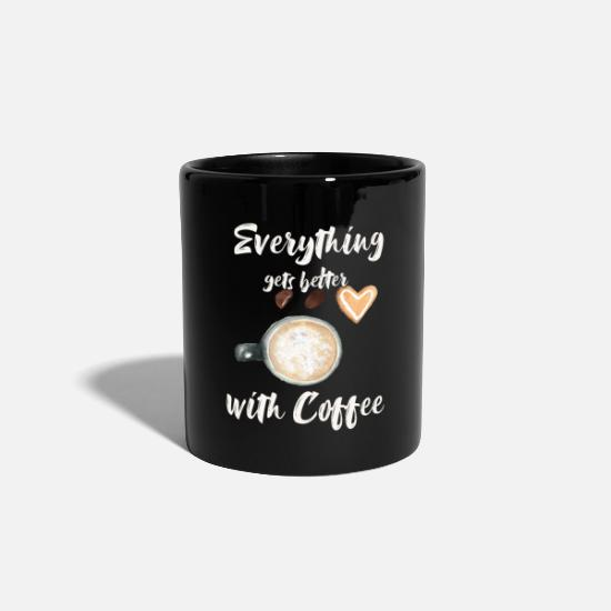 Coffee Bean Mugs & Drinkware - Everything gets better with coffee - Mug black