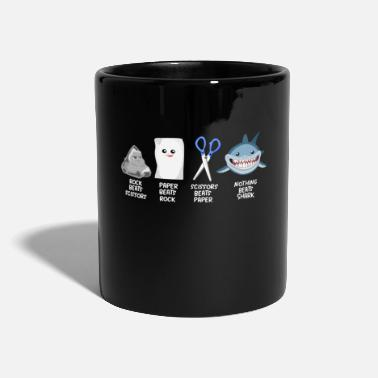 Creature Children scissors stone paper shark sharks - Mug