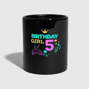 Birthday Girl Five 5th Birthday Boy Girl Kids - Full Colour Mug