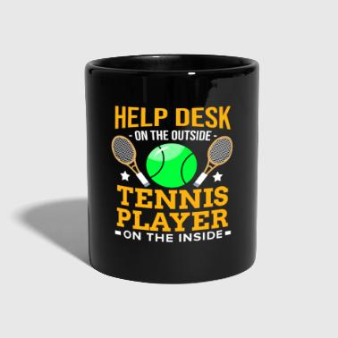 Informatique joueur de tennis Racket Ball Match Court Help Desk - Mug uni