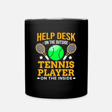 Virus tennisspiller Racket Ball Match Court Help Desk - Ensfarget kopp