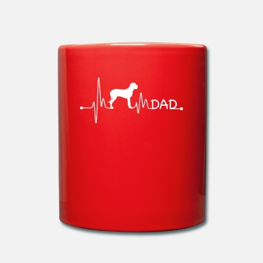 Great Heartbeat Pulse Line Great Dane Dad Dog Gift - Mug