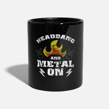 Thrash Headbanger Rocker Death Metal Loud Music Gift - Full Colour Mug