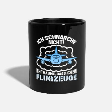 Skies Snoring not dreams plane pilot flying - Mug