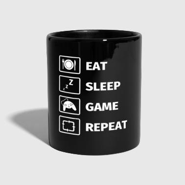 Eat Sleep Game Repeat - Full Colour Mug