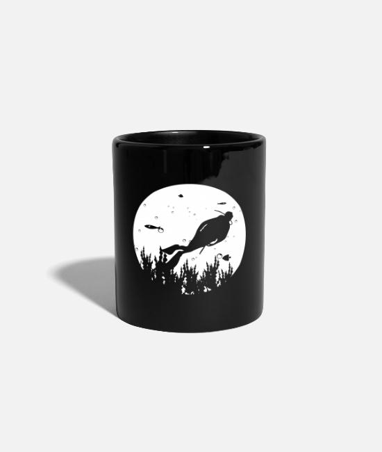 Snorkel Mugs & Drinkware - Dive vacation coral reef - Mug black