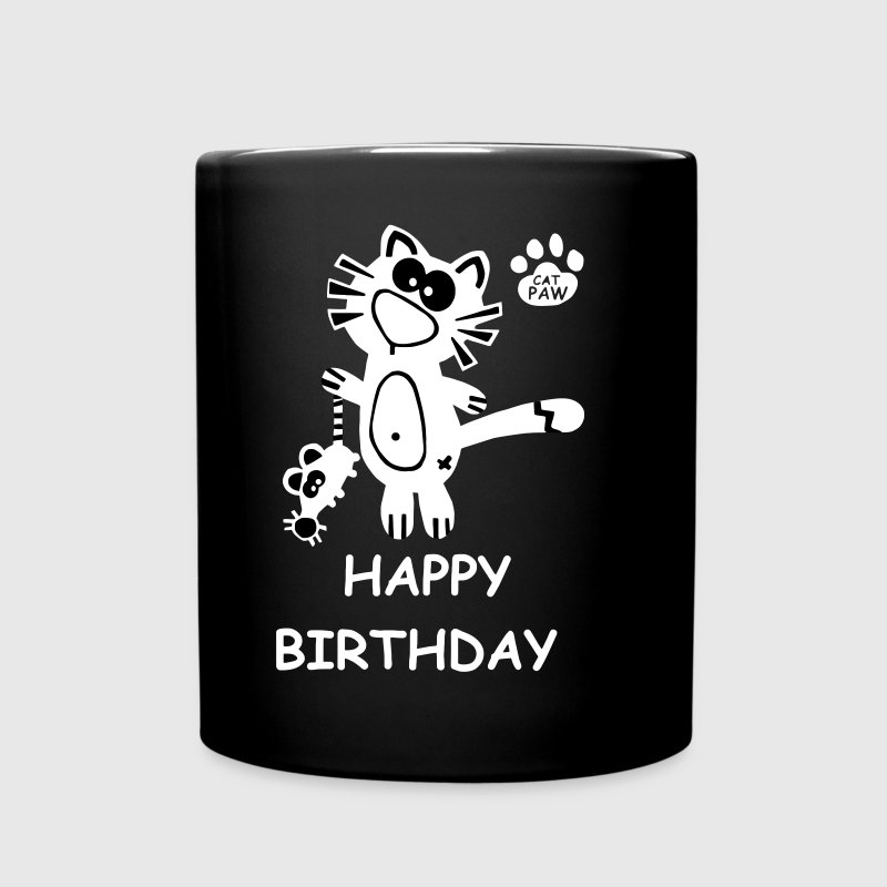 Catpaw Katze Katzen Kater Fun Happy Birthday - Ensfarvet krus