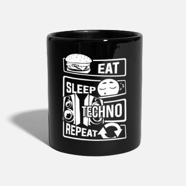 Techno Eat Sleep Techno Repeat - Party Electronic Music - Tazza monocolore
