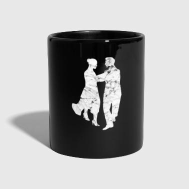 Ballet Dancing couple dancing dancingrs couple - Taza de un color