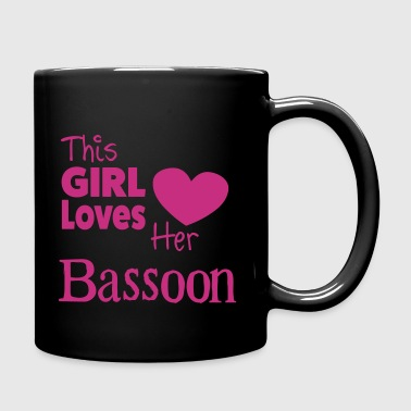 This Girl Loves Her Bassoon - Taza de un color
