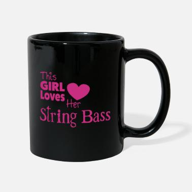 This Girl Loves String Bass - Ensfarvet krus