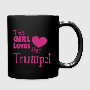 This Girl Loves Her Trumpet - Taza de un color